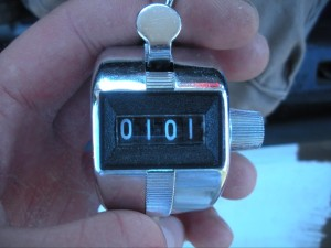 Pitch counters are a great way to keep track of how many fish you've caught. I used them for almost 10 years.